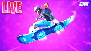 "🔴 NEW ""DRIFTBOARD GAMEPLAY!"" // HOVER BOARD TRICKS! // PATCH UPDATE! (Fortnite Battle Royale)"