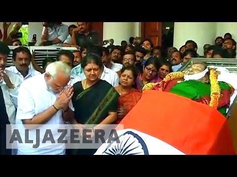India: Thousands gather for Jayaram's funeral