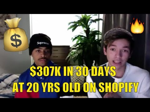 DROPSHIPPING: How These 2 Kids Made $307k In The Last 30 Days On Shopify thumbnail