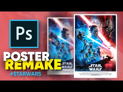 How I Remade The New Star Wars Poster! (photoshop)