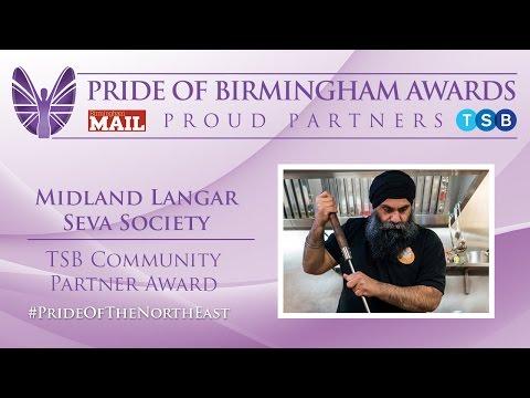 Pride of Birmingham Awards  - TSB Community Partner Award (subtitled)