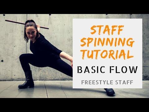 Zero to Fishtail - Basic Flow - Video 1/5-  BEGINNER Staff Manipulation Tutorial Series