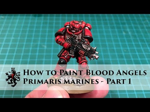 How to Paint Blood Angels - Primaris Space Marines - Part 1 - Intercessor Basic Armour