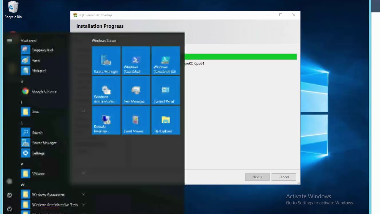 Step by step install SCCM ON Windows Server 2016 - YouTube