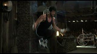 """Тренировка из фильма """"Рокки 4"""" 1985 г.  Сильвестр Сталлоне и Дольф Лундгрен"""