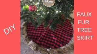 DIY CHRISTMAS TREE SKIRT | TARGET | HOBBY LOBBY | UNDER $10 | 2018