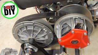 Tracked Amphibious Vehicle Build Ep. 11 - Engine, Buran Safari CVT & Gearbox Assembly, Crash Bar