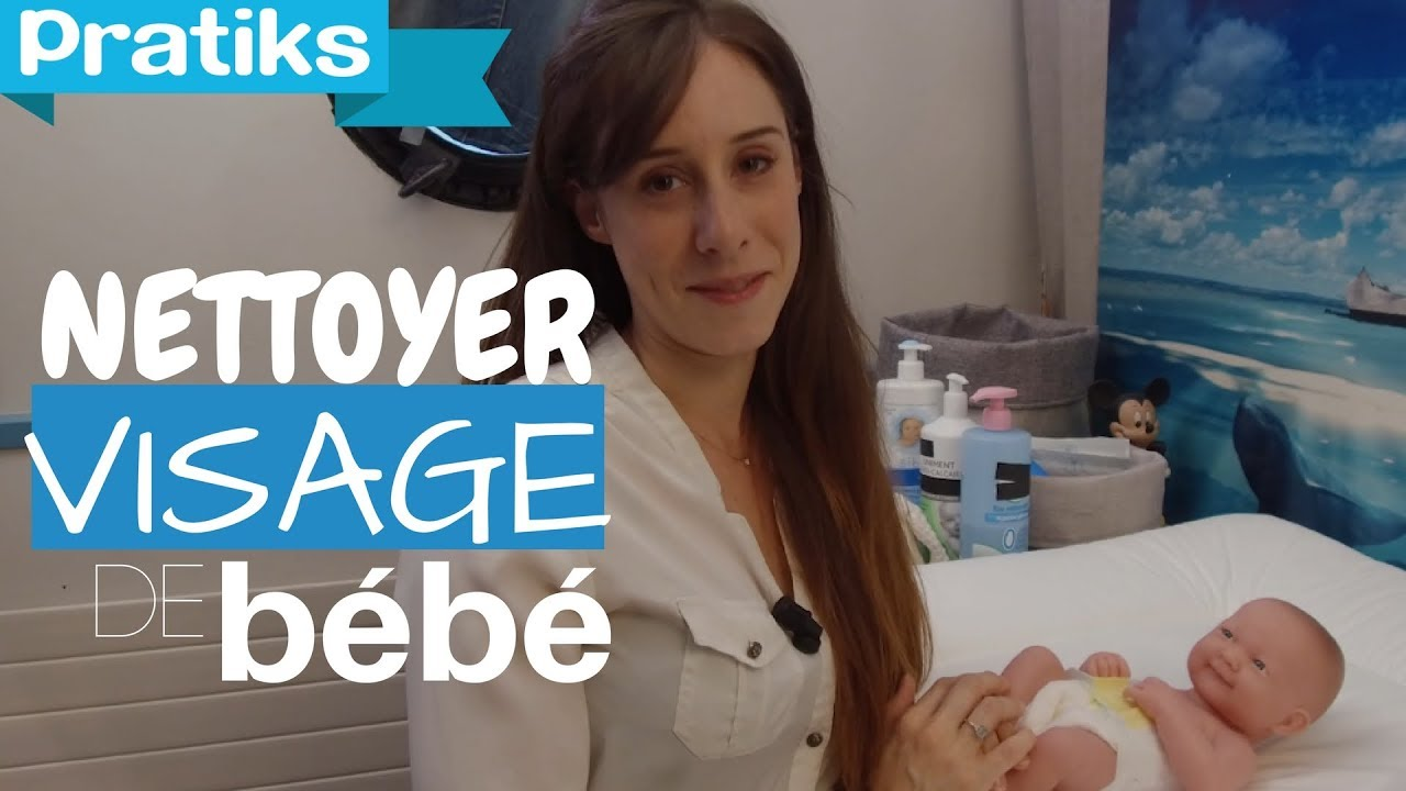 comment prendre soin du visage de votre b b youtube. Black Bedroom Furniture Sets. Home Design Ideas