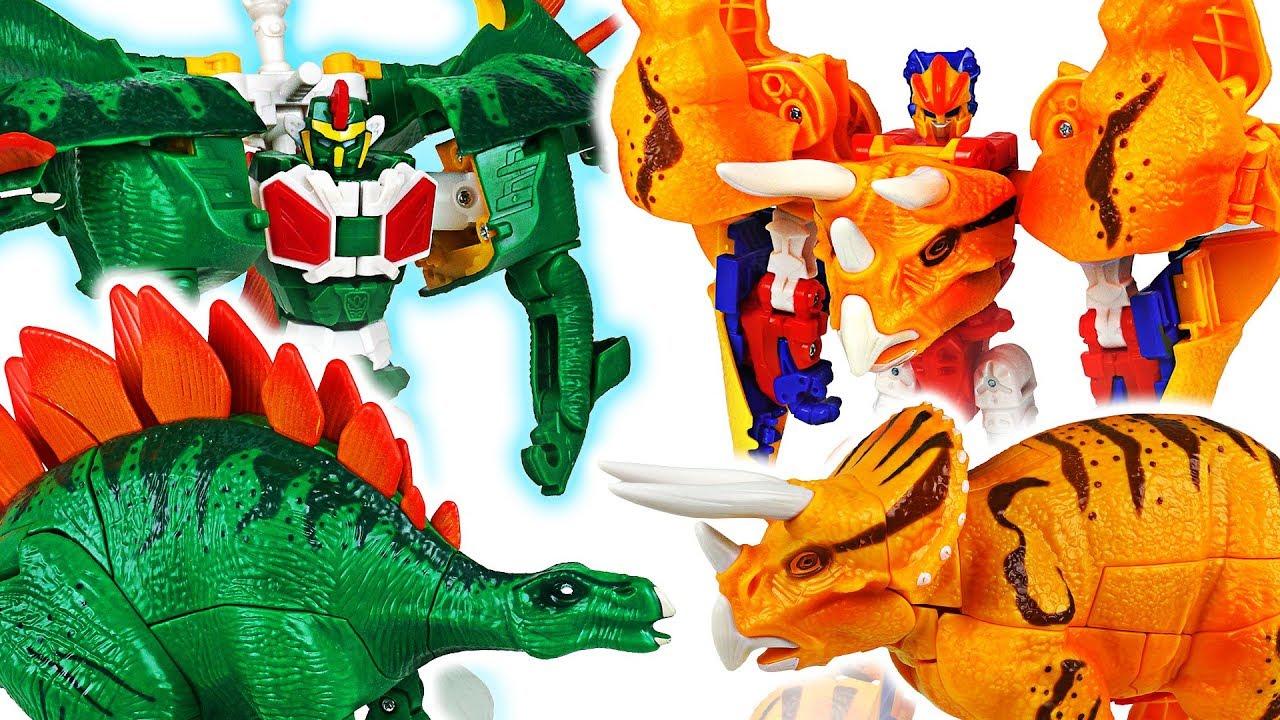 Cretaceous period's dinosaur transform robot! Hello Carbot Tego and Triton! Go! - DuDuPopTOY