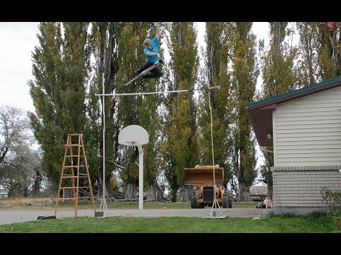 WORLD RECORD HIGHEST JUMP ON A POGO STICK 11 FEET