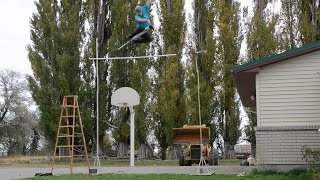 WORLD RECORD HIGHEST JUMP ON A POGO STICK 11 FEET