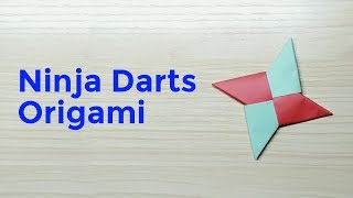 Easy Origami | How to Make a Origami Ninja Darts ( Shuriken ) [ Vol.1 ]
