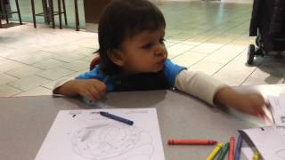 Nicky Drawing At Mall