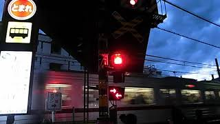 川越駅東口の東武東上線・JR川越線の共用踏切