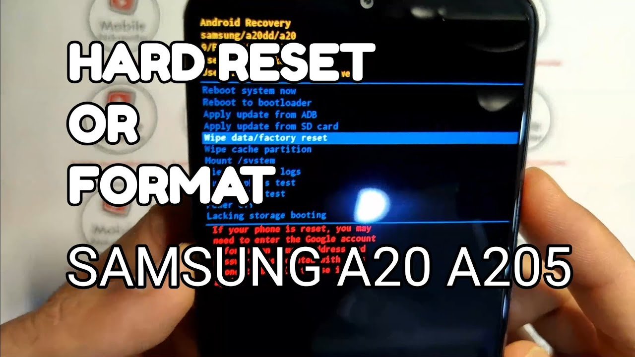 HARD RESET OR FORMAT SAMSUNG A19 A195
