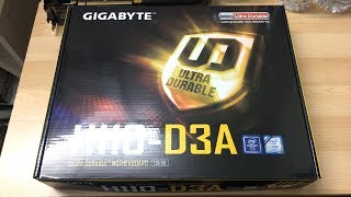 Gigabyte H110-D3A Unboxing   Gigabyte's in on the mining craze as well