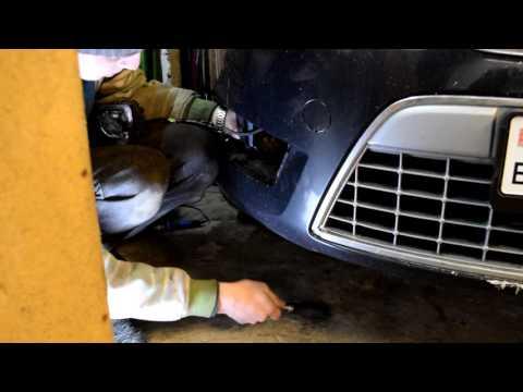 Замена ламп  противотуманных фар Форд Мондео 4 (Ford Mondeo4). ПТФ Часть1