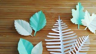 How to make paper leaf   Maple Leaf   Fern leaf    Rose leaf   Origami