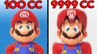 Mario Kart 8 Deluxe - 1cc vs 1000cc vs 5000cc vs 9999cc
