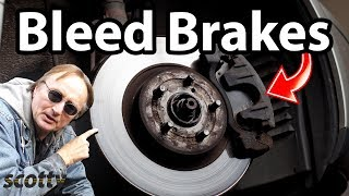 How To Bleed Brakes In Your Car (One Person)