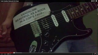 FOR SALE! Fender Vandalism Stratocaster Kurt Cobain