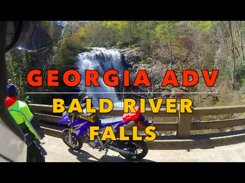 Motorcycle Adventure - Bald River Falls ride Georgia ADV