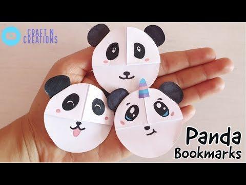 Easy Panda Corner Bookmark DIY