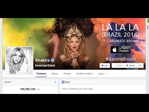 Shakira is the Queen of Facebook
