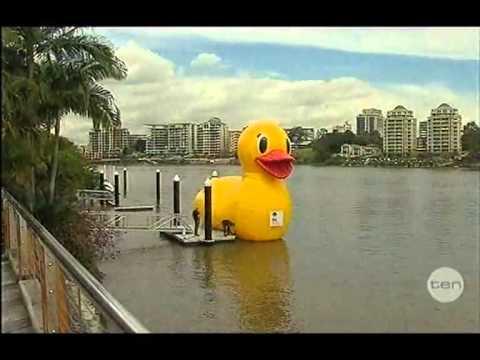 Channel 10 Duck Race Newsclips 21 8 12