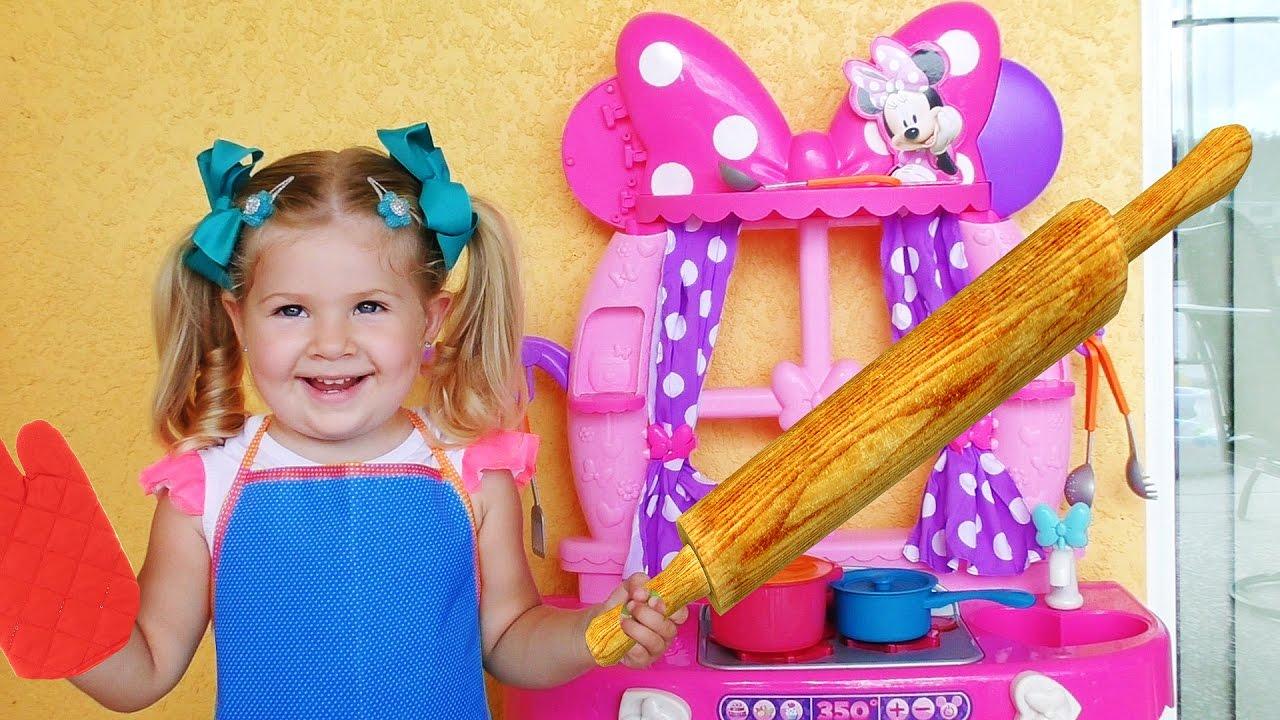Плей До Кухня ГОТОВИМ ЕДУ для Куклы Беби Элайв Видео для Детей про еду с Play Doh Игры для Малышей