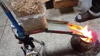 펠렛 자동공급기 화이어 테스트