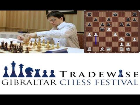 Maxime Vachier-Lagrave vs Nino Batsiashvili / Tradewise Gibraltar Masters 2018 / Round 4