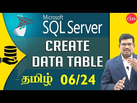 #6 Create a Data Table in SQL || Microsoft SQL Server in Tam