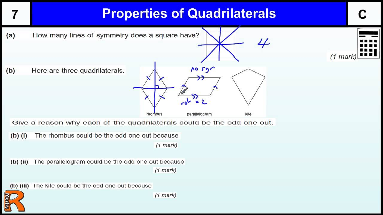Properties of Quadrilaterals GCSE Maths revision Exam ...