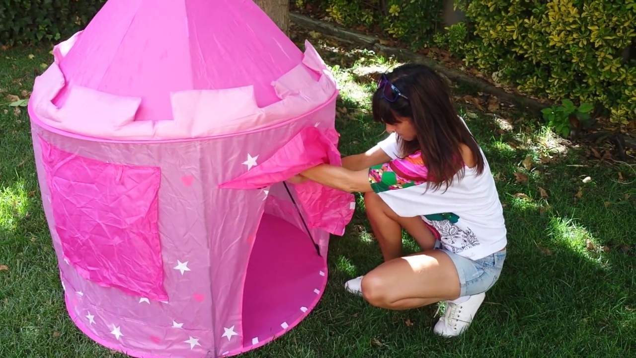 KI60111 Childrens Pop Up tent how to unpack and fold up & KI60111 Childrens Pop Up tent how to unpack and fold up - YouTube