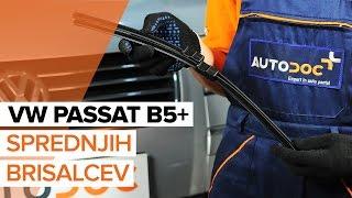 Kako zamenjati gumica sprednjih brisalcev na VW PASSAT B5+ [VODIČ]