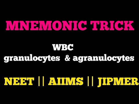 Trick for WBC granulocytes agranulocytes for neet aiims jipmer mcat