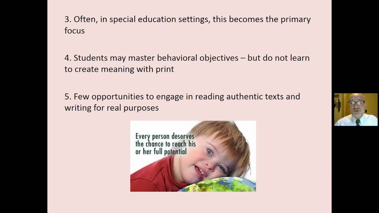 Teaching Reading To Students With Intellectual Disabilities Youtube