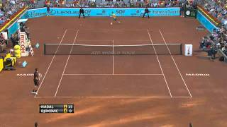 novak djokovic the best two handed backhand in tennis madrid open 2011