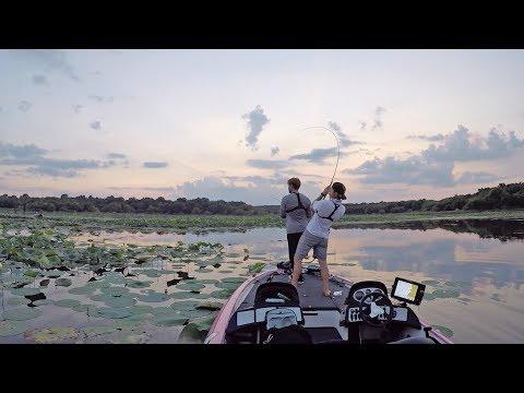 Bass Fishing at Dark | CRAZY Worm Bite