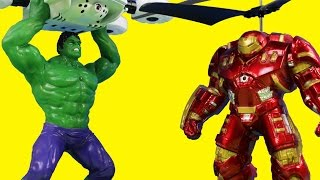 Marvel Avengers Age Of Ultron Hulk & Hulkbuster Flying Remote Control Helicopter