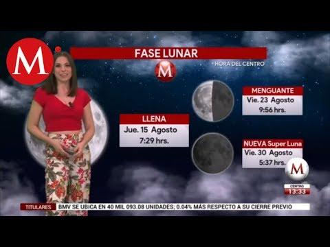 El clima del 22 de agosto, con Arlett Fernández