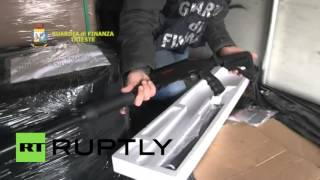 Italian police seize 800 shotguns en route from Turkey to Belgium