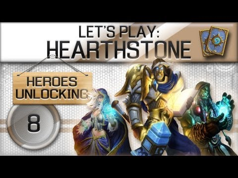 Hearthstone Beta - Unlocking Heroes Part 8 - Mage VS Paladin (First Pack!)
