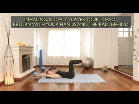 How Do Sit-ups With A Ball : Pilates Exercises 5