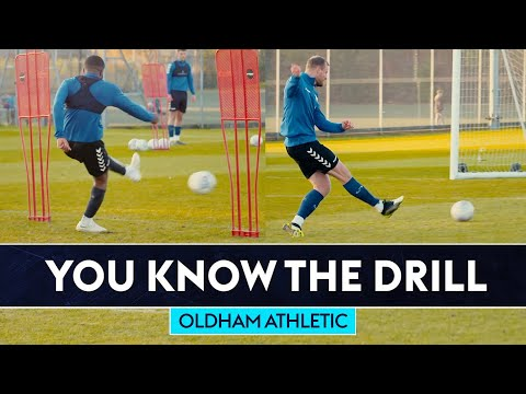 Jimmy Bullard takes on two of Oldham's centre forwards   You Know The Drill