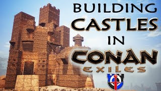 Building MEGA CASTLES in Conan Exiles