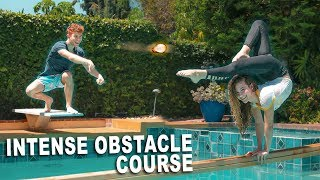 Download GYMNASTICS OBSTACLE COURSE *OVER THE POOL* Mp3 and Videos