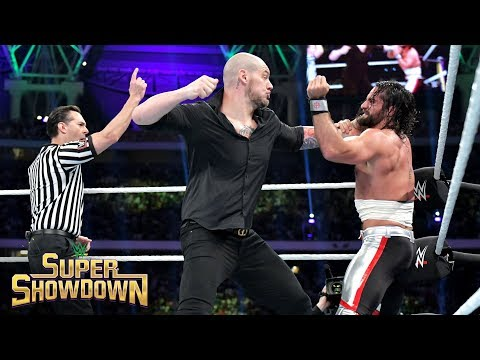 Seth Rollins dives from the ring onto Baron Corbin: WWE Super ShowDown 2019