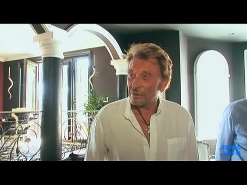 Johnny Hallyday chez lui à Los Angeles